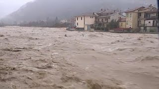Download Torrential rains cause widespread flooding in northern Italy Video