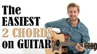 Download Beginners First Guitar Lesson - The EASIEST 2 Chords On Guitar Video