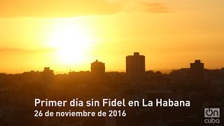 Download Primer día sin Fidel en La Habana Video