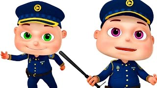 Download Five Little Babies Dressed As Police | Zool Babies Fun Songs | Nursery Rhymes Collection Video