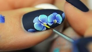 Download Nail art orchid One Stroke Video