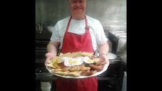 Download LIVE: Can Britain's biggest breakfast be conquered by a size 8 lady? Watch LIVE! Video