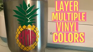 Download LAYERING MULTICOLORED VINYL DECALS WITH CRICUT EXPLORE | REGISTRATION MARKS Video