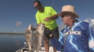 Download FOX Sports Outdoors SouthWEST #24 -2016 Lake Pontchartrain, Louisiana Black Drum Fishing Video