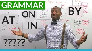 Download English Grammar: The Prepositions ON, AT, IN, BY Video
