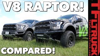 Download V8 Raptor vs Stock Twin-Turbo V6 Ford Raptor: Compared Video