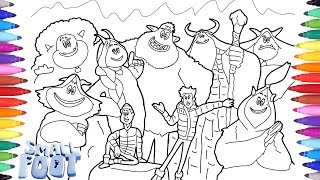 Download Small Foot Coloring Pages, How to Draw Small Foot, Coloring Small Foot for Kids Video