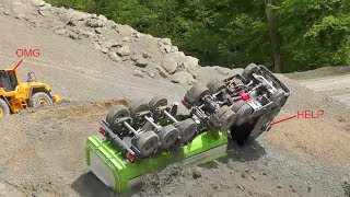 Download Heavy Construction Site accidentCrash on the r/c constructionR/c Volvo loader rescue ACVTION!!! Video