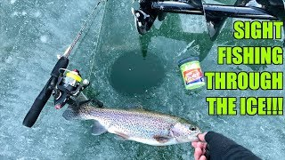 Download CRAZIEST Ice Fishing Day of my Life!!! (SIGHT-FISHING Through the Ice) Video
