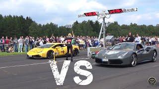 Download Ferrari 488 GTB VS Lamborghini Huracán Novitec Torado - DRAG RACE! Video