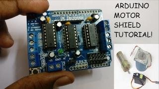 Download Arduino Tutorial: Using a Motor shield! Video