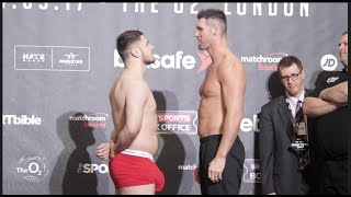 Download HUNG LIKE A RHINO!! DAVE ALLEN v DAVID HOWE - OFFICIAL WEIGH IN & HEAD TO HEAD / HAYE v BELLEW Video