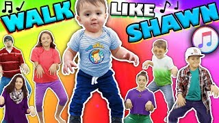 Download ♫ WALK LIKE SHAWN ♫ Music Video for Kids ♬ Dance Song Video