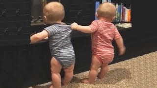 Download The FUNNIEST and CUTEST video you'll see today! - TWIN BABIES Adorable Moments Video