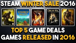 Download Top 5 Deals for Games Released in 2016 - Steam Winter Sale 2016 Video