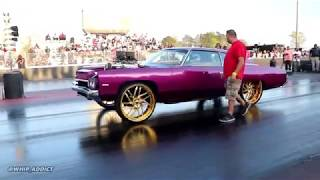 Download WhipAddict: Kandy Purple 72' Donk with Supercharged Big Block on All Gold 26s Track Run Video
