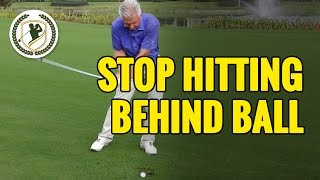 Download HOW TO STOP HITTING BEHIND THE GOLF BALL Video