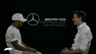 Download 100 Races With Mercedes: Lewis Hamilton In Conversation With Toto Wolff Video