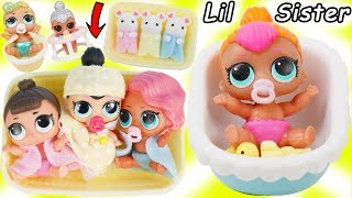 Download LOL Surprise Dolls + Lil Sisters Babysat New Pearl Doll and gets Baby Nursery Bathroom! Video