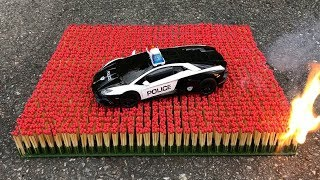 Download EXPERIMENT: 10 000 MATCHES VS POLICE TOY CAR Video