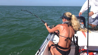 Download Best Fishing Fail Video: Big Shark tries to pull girl overboard twice Video