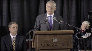 Download Watch Defense Secretary Mattis' US Naval War College 2018 Commencement Address Video