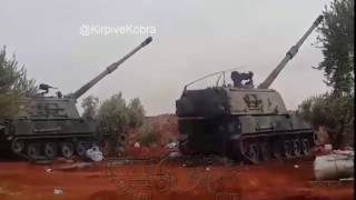 Download #FıratKalkanı Turkish army firing T-155 howitzers on targets in Syria Video