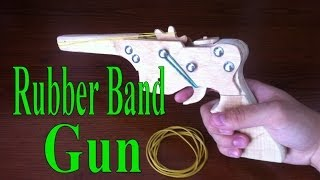 Download Rubber Band Gun with wood, Full or Semi auto (Homemade, Tutorial) Video