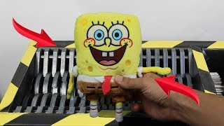 Download Experiment Shredding SpongeBob Squarepants And Toys | The Crusher Video
