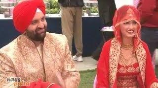 Download Hansraj Hans's Son and Daler Mehndi's daughter Ajit Kaur wedding reception party in Gurgaon Video