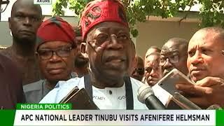 Download Tinubu visits Afenifere leader in Akure Video