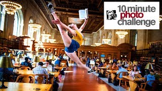 Download 10 Minute Photo Challenge BUSTED in NY Public Library Video