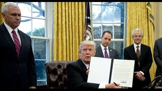 Download Trump signs three executive actions Video