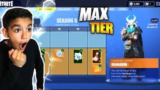 Download Surprising Little Brother With Fortnite Season 5 *Max* Battle Pass! He Freaked Out! Video