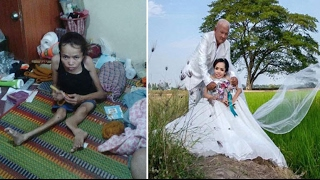 Download 'My dream has come true!' Disabled bride ties the knot after feared she'd never find love Video
