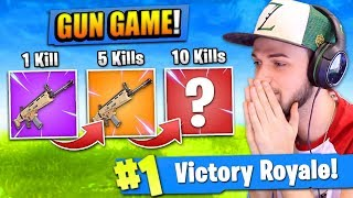 Download The ″GUN GAME″ CHALLENGE in Fortnite: Battle Royale! Video