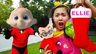 Download PJ Masks Adventure In Real Life with The Grinch Christmas, Paw Patrol Chase and Play Doh Video