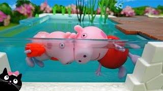 Download Peppa Pig de Vacaciones en la Casa de Calico Critters con Piscina de Playmobil - Juguetes Peppa Pig Video