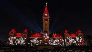 Download Ottawa Parliament Northern Lights Show 2017 Video