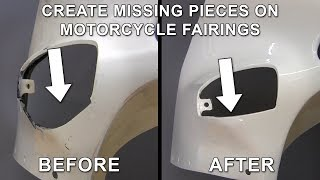 Download Create Missing Pieces on Cracked and Broken Street Bike Fairing Video