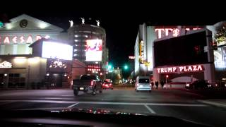 Download Driving through Atlantic City at night Video