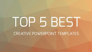 Download Top 5 Best Creative Powerpoint Templates Video