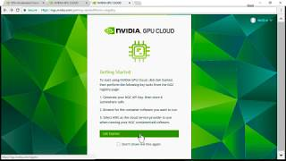 Download NVIDIA GPU Cloud with TITAN V, Step by Step Video
