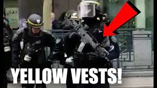 Download REPORT: Semi-Automatic Weapons Seen At Yellow Vests Protests In Paris France! No 2nd Amendment. Video