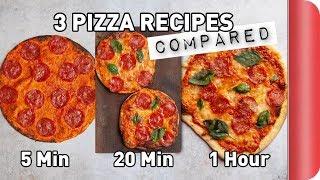 Download 3 Pizza Recipes COMPARED (5 Min vs 20 Min vs 1 Hour) Video