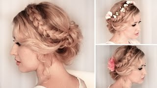 Download Braided updo hairstyle for BACK TO SCHOOL, everyday, party, medium/long hair tutorial Video