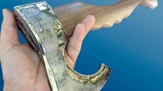 Download Vikings' Antique Hatchet Restoration. It's just charm! Video