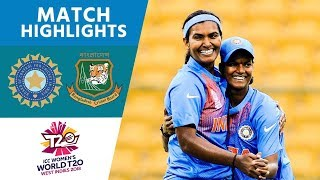 Download ICC Women's #WT20 India vs Bangladesh Match Highlights Video