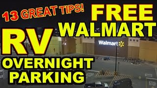 Download 👍″Top 13″ Tips for FREE Overnight RV Parking at WALMART Video