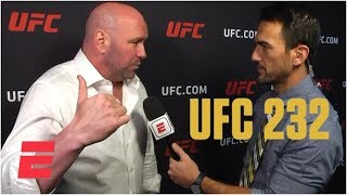 Download Dana White calls Jon Jones 'unbelievable after UFC 232 win | MMA Sound Video